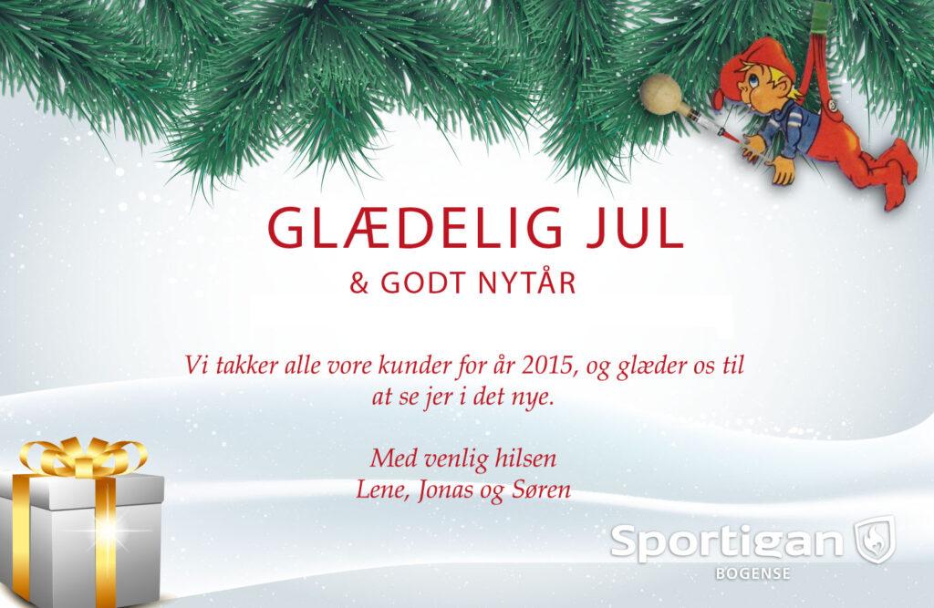 Sportigan Bogense ønsker glædelig jul og godt nytår