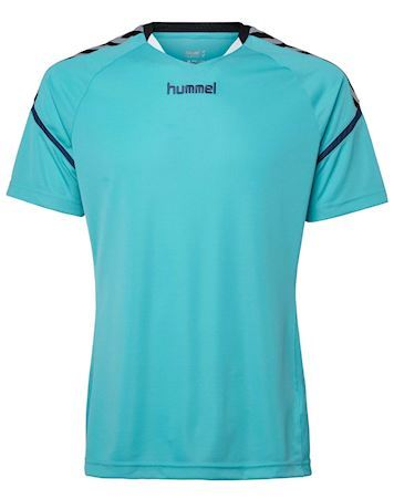 Hummel T-shirt Authentic Charge SS Poly Jersey Scuba Blue Herre
