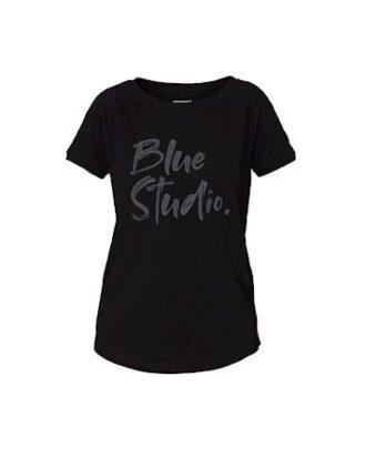 Blue Sportswear Alma Tee T-shirt Sort Dame