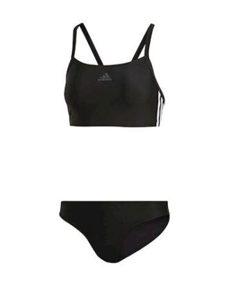 Adidas FIT 2PC 3S Bikini Sort Dame