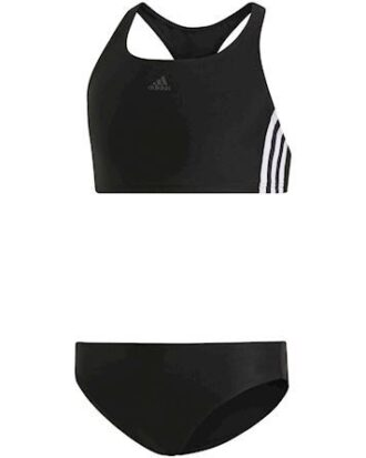 Adidas FIT 2PC 3S Badedragt Sort Pige