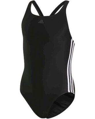 Adidas FIT SUIT 3S Y Badedragter Sort-Hvid Pige