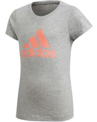 Adidas YG MH Bos Tee T-shirt Grå-Pink Pige