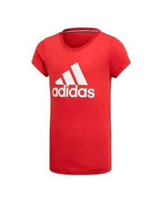Adidas Bos T-shirt Bordeauxrød-Hvid Pige