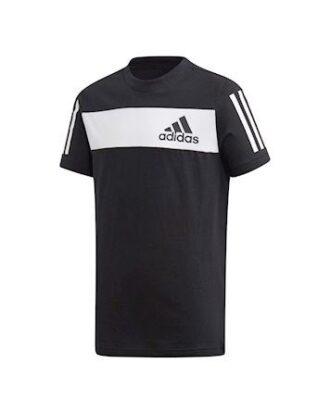 Adidas YB SID  T-shirt Sort-Hvid Børn