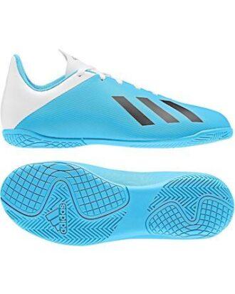 Adidas X 19.4 IN J Indendørssko Lyseblå-Hvid Børn