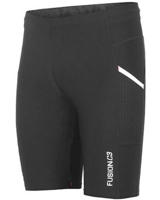 Fusion tight c3 kort tight med lomme sort unisex
