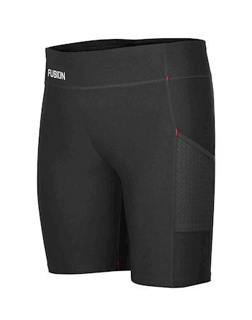 Fusion C3+ Short Training Tights Sort Dame