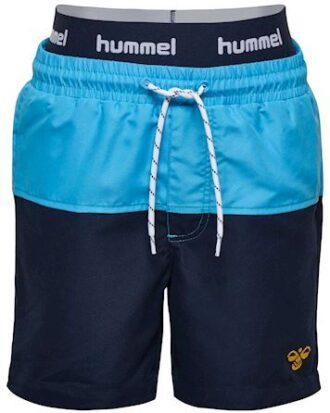 Hummel Spot Board Shorts Badeshorts Navy-Lyseblå Drenge