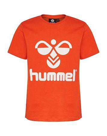 Hummel Tres T-shirts Orange-Hvid Børn