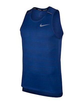 Nike Dri-FIT Miler Running T-shirts Blå Herre