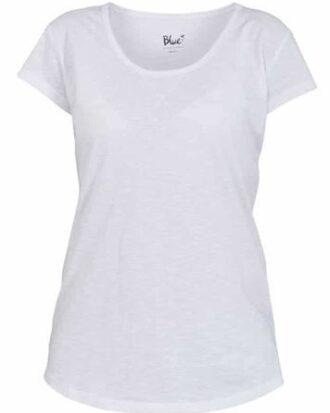 Blue T-shirt < Hvid Dame
