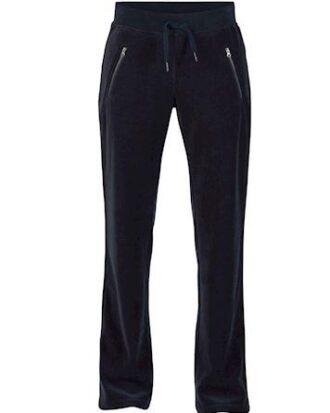 Blue Bukser Chili Velvet Pants Navy Dame