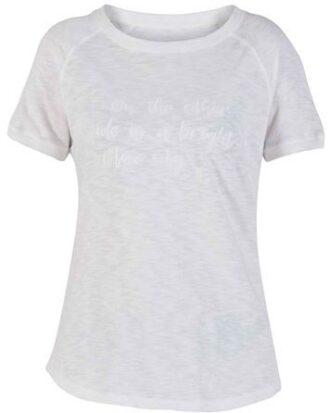 Blue T-shirt Elva Tee Hvid Dame