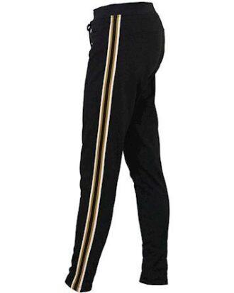 Blue Sweatpants Evita Tight Pants  Sort-Bronze Dame