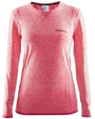 Craft Undertrøje Ls Active Comfort Poppy-rød Meleret Dame