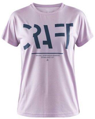 Craft T-shirt Eaze SS Logo Mesh Tee W Lilla Dame