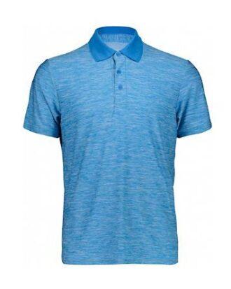 CMP Strech Polo Melange  Shirt Blå Herre