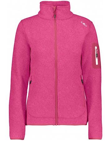 CMP Knit Fleece Jacket Fritid Pink Dame