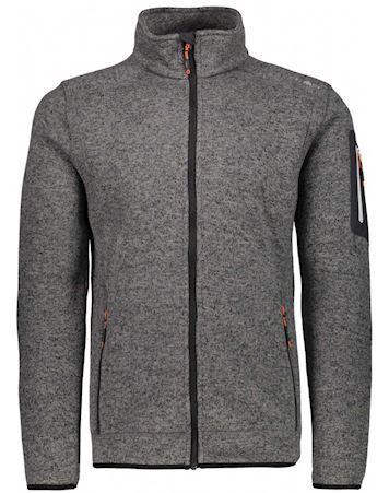 CMP Knit Fleece Jacket Fleecetrøjer Grå Herre