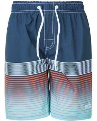 Cruz Tripura Printed Boardshorts Badebukser Navy-Orange-Turkis Børn