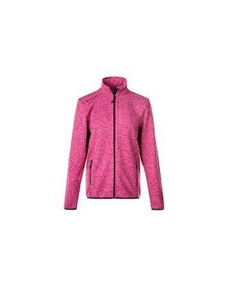 Whistler Maleo W Melange Fleece Jacket Fleecetrøje Lyserød Dame
