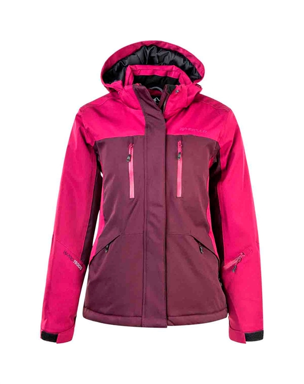 Whistler Bahagia W Functional Ski Jacket W-Pro 15000 Skijakker Mørkerød Dame