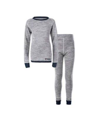 Zig Zag Pattani Wool Underwear Set Skiundertøj Sort Børn