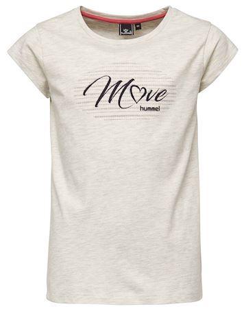 Hummel T shirt Ebony T shirt Hvid Pige
