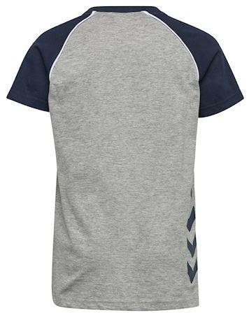 Hummel T-shirt HMLJulian T-shirt SS Grå-Navy Dreng 1