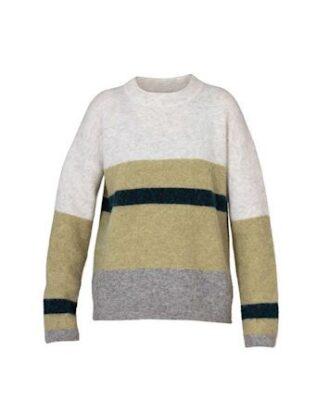 Blue Sportswear Halifax Knit Trøje Hvid-Grøn Dame