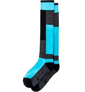 Whistler Skistrømper Corsicana 2-pack Ski Sock Sort-Turkis Unisex