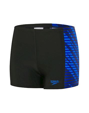 Speedo Allover Pan Badebuks Sort Drenge