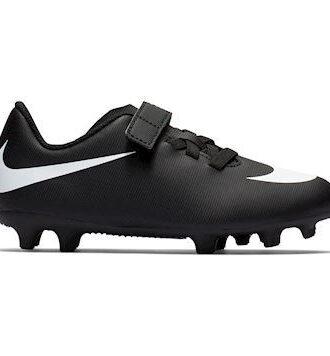 Nike Bravata II (v) FG Fodboldstøvler Sort-hvid Børn