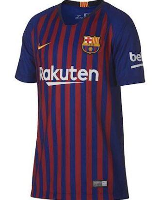 Nike Fodboldtrøje FC Barcelona Mørkeblå-Mørkerød Børn