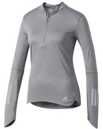 Adidas Løbetrøje RS LS Zip Tee grå dame
