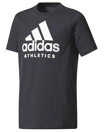 Adidas t-shirt YB SID Tee Sort-Hvid Børn