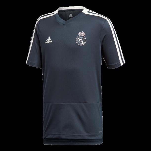 Adidas T-shirt Real TR JSY Y Navy-Hvid Unisex