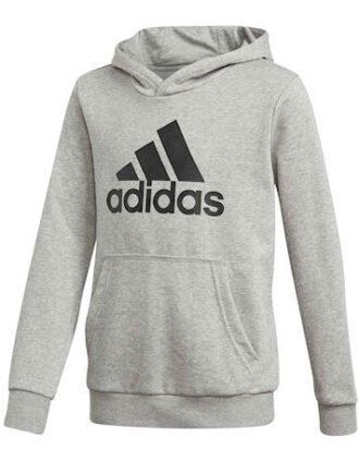 Adidas Sweatshirt YB Logo Hood Grå Børn