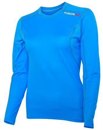 Løbet shirt Fusion PRF W LS Surf blå dame