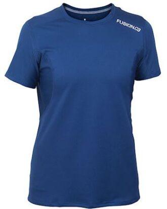 Løbe t-shirt Fusion C3 PRF night blå dame