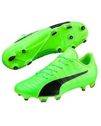 Puma Evopower Vigor 3 Lth Fg fodboldstøvle grøn læder