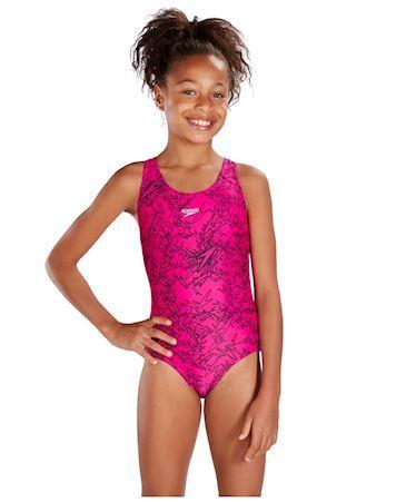Speedo badedragt Boom Allower splash pink pige 1