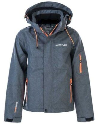 Whistler Jakke Langs Jr. Functional Jacket W-Pro 10000 Gråmeleret-Orange Dreng