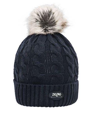 ZigZag Hue Aurillac Knitted Hat Sort Børn