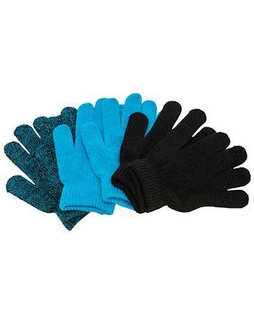 ZigZag Handsker Neckar Knitted 3-Pack Gloves Sort-Blå Børn