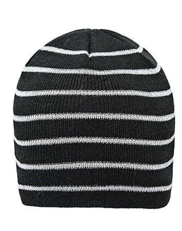 ZigZag Hue Freddie Knitted Hat Sort-Sølv Børn
