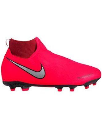 Nike Fodboldstøvle Jr Phantom VSN Academy DF FG-MG Rød-Sølv Børn