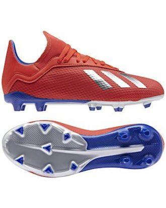 Adidas Fodboldstøvler X 18.3 FG J Rød-Blå Børn