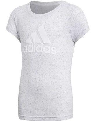 Adidas T-shirt YG Id Winner Tee Grå-Hvid Pige